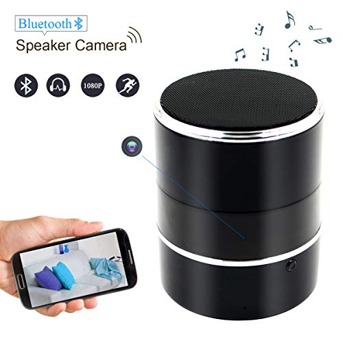 Winsper Hidden Spy Camera, Wireless Bluetooth Speaker Cam WiFi HD 1080P 180? Nanny Cam, Motion Detection Remote Control Security Video Recorder for Home, Office, Hotel