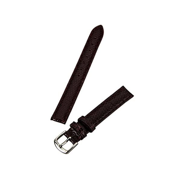 Hadley-Roma Women's LSL715RA 150 15-mm Black Genuine Java Lizard Watch Strap