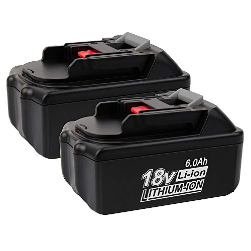 2 Pack 18V 6.0Ah BL1860 Lithium-Ion Replacement for Makita 18V Battery BL1830 BL1850 BL1840 BL1850B-2 BL1845 BL1815 BL1820 BL1860B LXT-400 18-Volt Cordless Power Tools Batteries