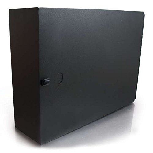 C2G 39106 Q-Series 2-Panel Wallmount Box, TAA Compliant, Black (Made in the USA)