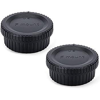 (2-Pack) JJC Body Cap and Rear Lens Cap Kit for Nikon DSLR Cameras + Nikon F Mount Lenses, Upgrade Luxury Version