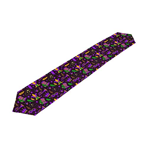 DOPKEEP Mardi Gras Carnival Mask Table Runner Machine