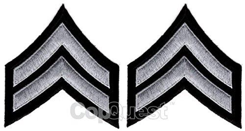 uniform-chevrons-medium-grey-on-black-3-inch-wide-corporal-pair