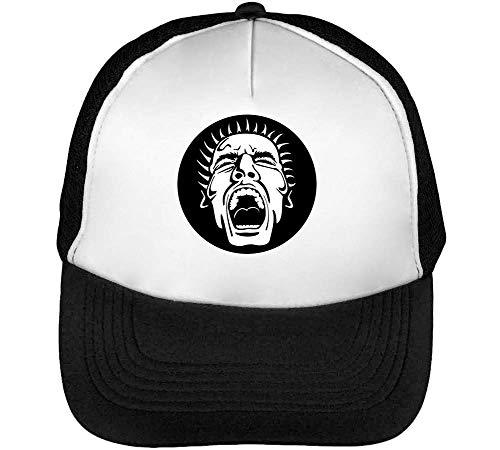 Screaming Gorras Hombre Snapback Beisbol Negro Blanco