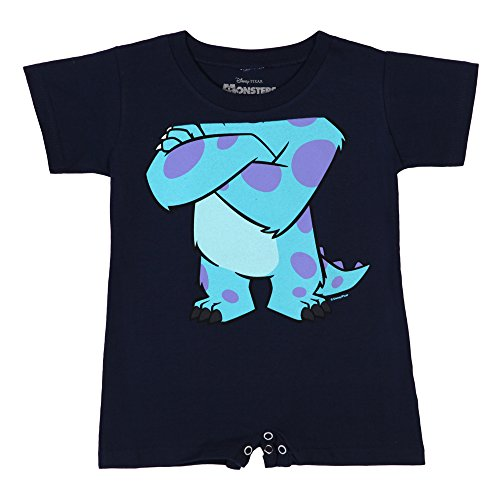 Monsters Inc I Am Sulley Baby Romper - Navy (Monsters Inc Baby Onesie)