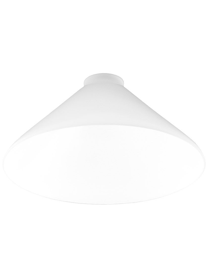 10'' Diameter Cased White Cone Shade With 2 1/4'' Fitter
