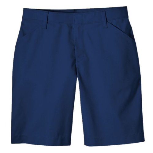 Dickies Women's Flat Front Short,Dark - Navy Bermuda Blue