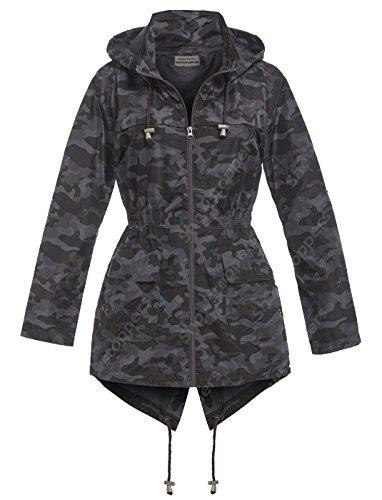 SS7 Manteau impermable - Femme camouflage noir