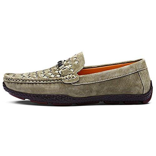 Uomo Shenn classico piatto dress ufficio informale pelle scamosciata mocassini scarpe 3385