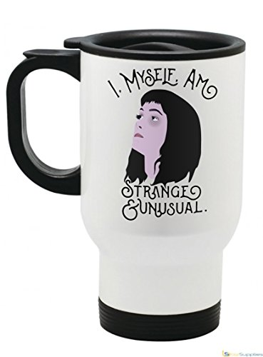 I, Myself, Am Strange and Unusual Lydia Deetz Beetlejuice Coffee Mug (14 fl oz Travel Mug) (Mug Beetlejuice Coffee)