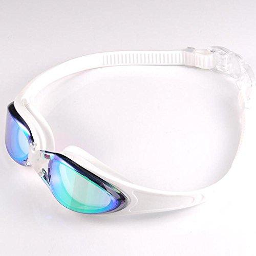 Masque de plongée Lunettes de bain antibrouillard rayonnement antiultraviolet antibuée étanche usage professionnel pour adultes