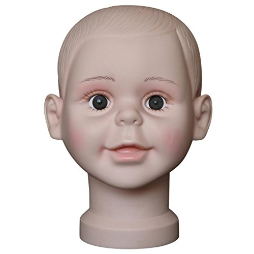 Hot Sale! AMA(TM) Baby Child Mannequin Manikin Head Model Wig Hair Glasses Hat Show Stand Display (16)
