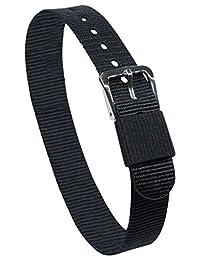 Dakota 44909 Easy Exchange 14 mm, One Strap Nylon Watch Band, Black