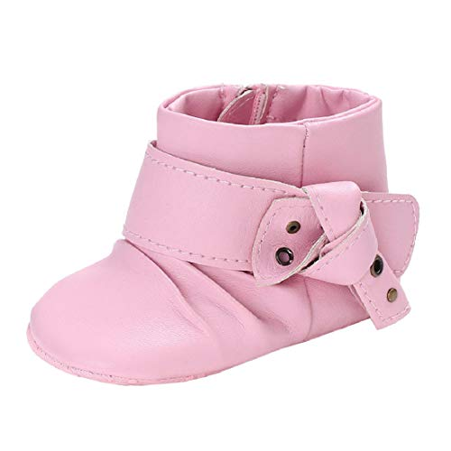 76c6bfccbb577 Baby Girl Soft Sole Booties Snow Boots Infant Toddler Newborn Warming  Leather Shoes by FAPIZI