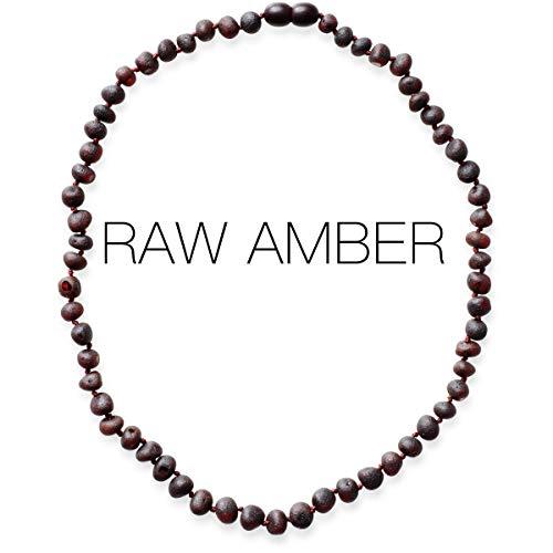 Meraki Amber Necklace - Raw Unpolished Baroque