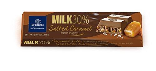 (Leonidas Belgian Chocolates - 50 gr Batons - Milk Chocolate Salted Caramel)