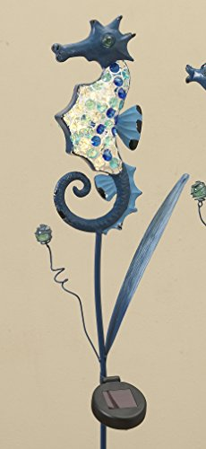 Gerson Beautiful 41'' Solar Lighted Metal Nautical Yard Stake with Acrylic Beads (Seahorse) by Gerson