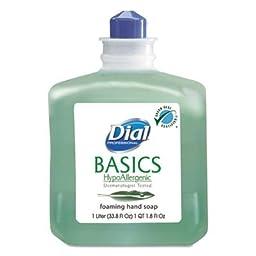 Dial DIA 06060 Basics Foaming Hand Soap Refill, 1000 mL, Honeysuckle, Green (Pack of 6)