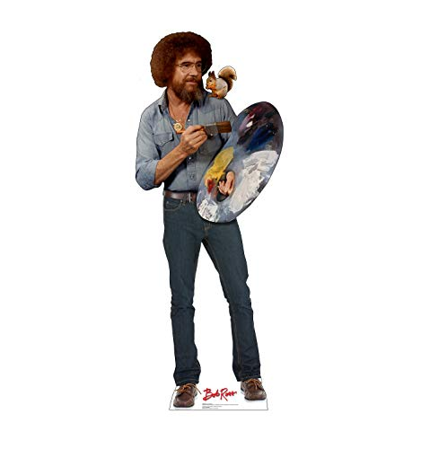 (Advanced Graphics Bob Ross & Friend Life Size Cardboard Cutout)