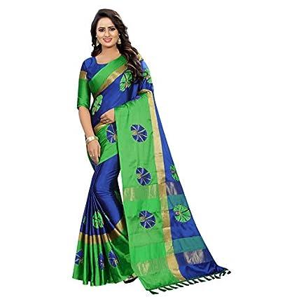 Best Shreeji Designer Women's Ari Embroidery Work and Chanderi Cotton Saree in india 2020