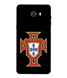 ColorKing Football Portugal 09 Black shell case cover for Samsung C9 Pro