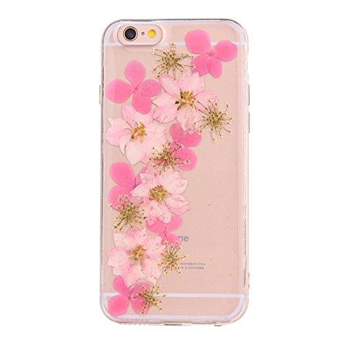 GR Weiche transparente TPU Epoxy Dripping gepresste echte getrocknete Blume Schutzhülle für iPhone 6 Plus & 6s Plus ( SKU : Ip6p2996l )