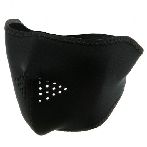 Neoprene Half Face Mask - Black OSFM