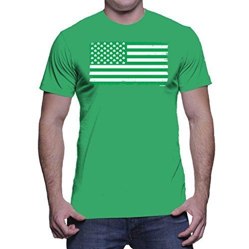 HAASE UNLIMITED - Playera para Hombre, diseño de Bandera de EE. UU, Kelly, X-Large