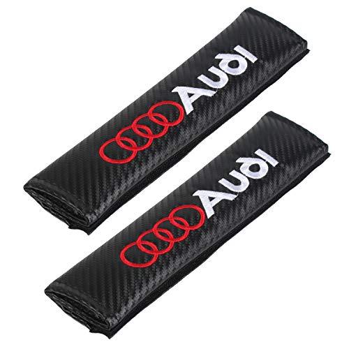 (Auto Seat Belt Cover Shoulder Pad Cushion (2 Pcs) fits All Type of car and car Seats Seat Belt Pads (Audi) )