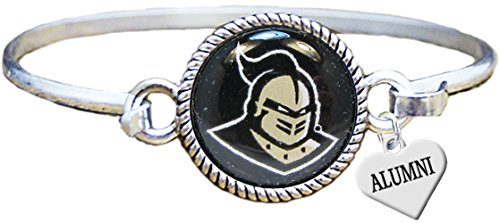 Sports Accessory Store Central Florida Knights Alumni Charm Silver Cuff Bangle Bracelet UCF Jewelry