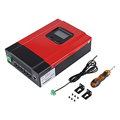 Fdit Solar Charge Controller 12V/24V/36V/48V Max PV Input 130V DC Battery Charger Regulator 40A MPPT