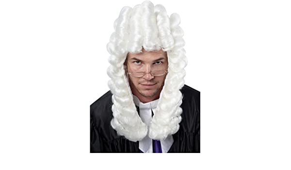 Judge Barrister Fancy Dress Wig (peluca): Amazon.es: Juguetes y juegos