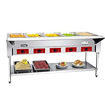 Amazon.com: Commercial Electric Food Steam Table 5 Wells ...