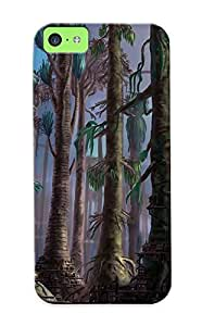 Christmas Day's Gift- New Arrival Cover Case With Nice Design For Iphone 4/4s- Fantasy Landscapes Trees Forest Woods Cities Houses Jungle Bridges Architecture Art Paintings Village Town Buildings