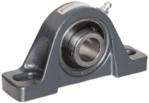 Browning VPLS-222 Pillow Block Ball Bearing, 2 Bolt, Setscrew Lock, Contact and Flinger Seal, Cast Iron, Inch, 1-3/8