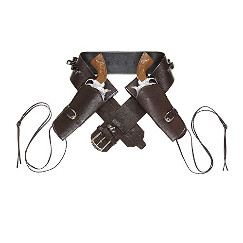 Brown Adults Western Double Holster Belt