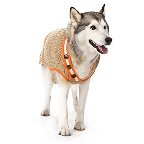 Amazoncom Dogo City V Neck Dog Sweater Beige Extra Extra Large