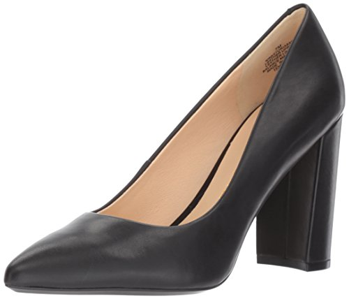 Nine West Women's Astoria Pump, Black Leather, 8.5 Medium US