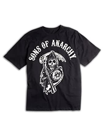 Sons of Anarchy Big & Tall Short Sleeve Graphic T-Shirt (1XTALL, Black)