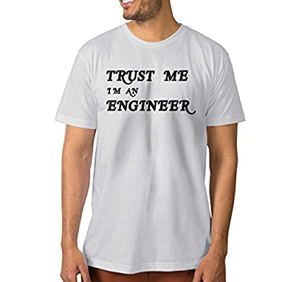 Texhood Men?€?s Trust Me I Am An Engineer White Tees SizeXLO-Neck