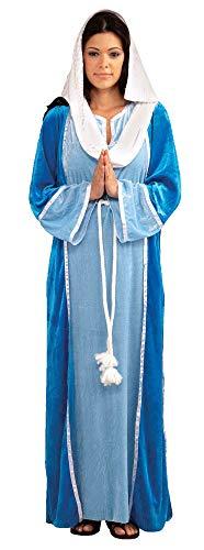 Forum Novelties Women's Deluxe Biblical Virgin Mary Costume, Blue, Standard ()