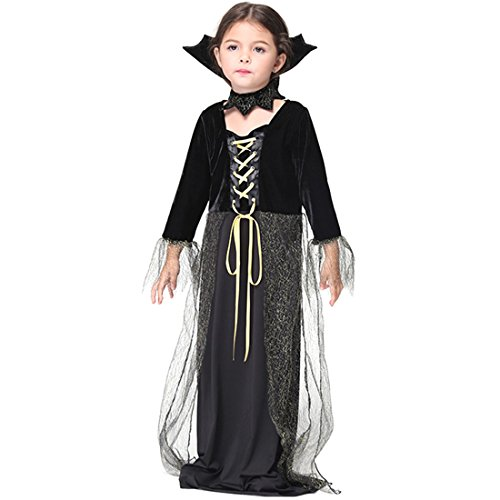 Slocyclub Darkness Vampiress Long Dress Costume for Toddler Girls