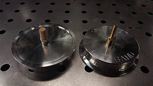 Strictly Modified Welding 4'' V-Band Back Purge Cap / Heat Sink (Set of 2) by Strictly Modified