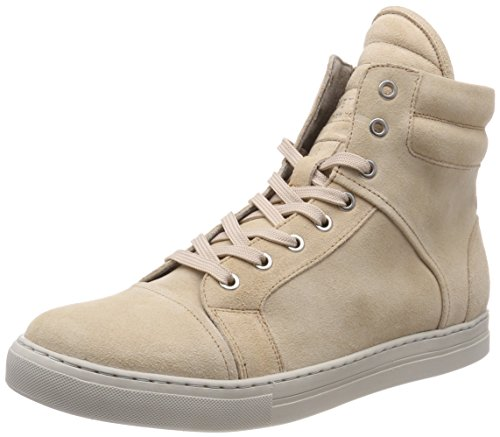 Kenneth Cole New York Double Header High-Top Suede Sneaker - Mens Cream