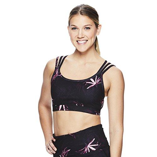Gaiam Women's Strappy Wireless Sports Bra – Medium Impact Racerback Workout & Yoga Bralette