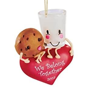 Carlton Heirloom Ornament 2013 Sweethearts - Milk and Cookie - #CXOR009D