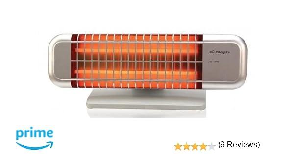 Orbegozo BP 0102 - Estufa de cuarzo de doble barra con 2 niveles de potencia (600 W/ 1200 W), con soporte antivuelco: Amazon.es: Hogar