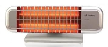 Orbegozo BP 0102 - Estufa de cuarzo de doble barra con 2 niveles de potencia (