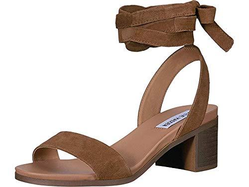 Steve Madden Women's Adrianne Heeled Sandal Chestnut Suede 7.5 M US