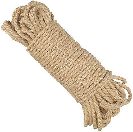 50M Cuerda de Yute 5mm, 3 Capas Cuerda de Cáñamo Gruesa ...